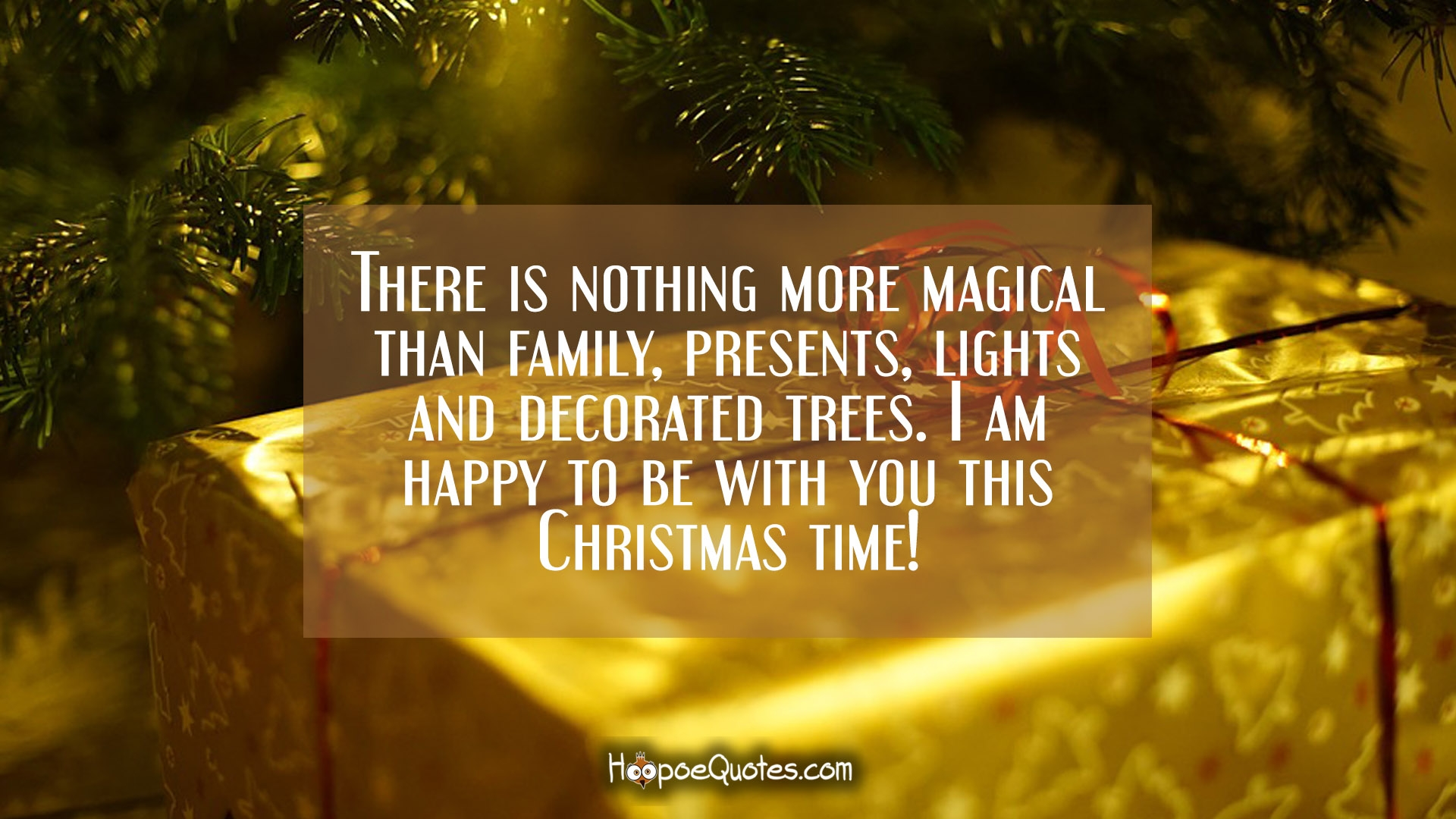 there is nothing more magical than family presents lights and decorated trees i am happy to be with you this christmas time