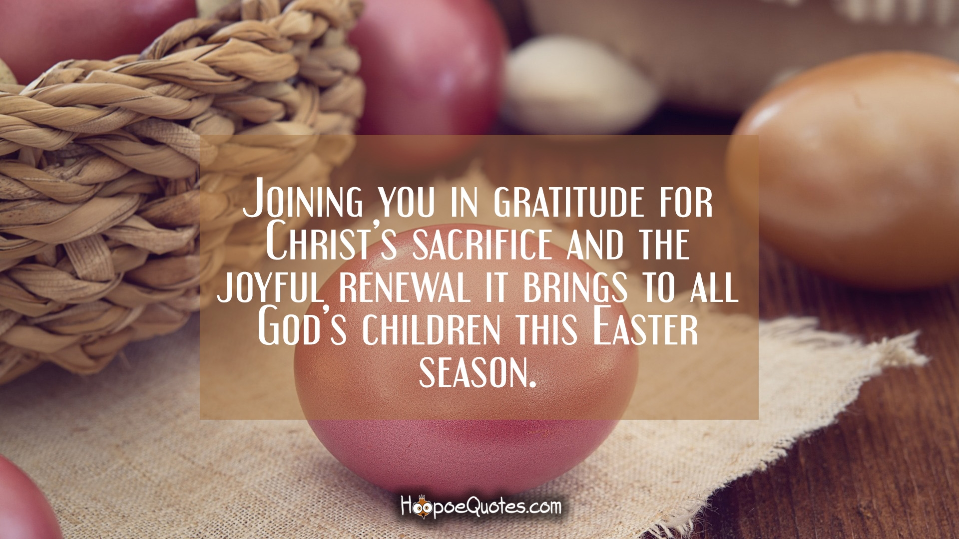 Joining You In Gratitude For Christs Sacrifice And The Joyful