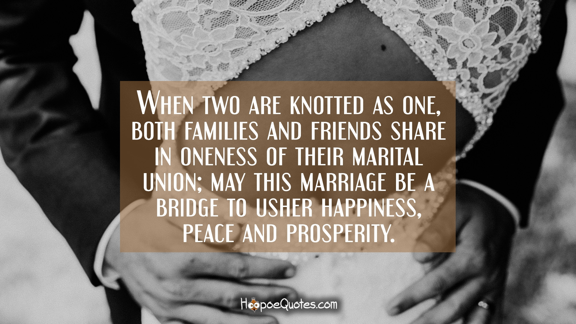 When two are knotted as one, both families and friends ...