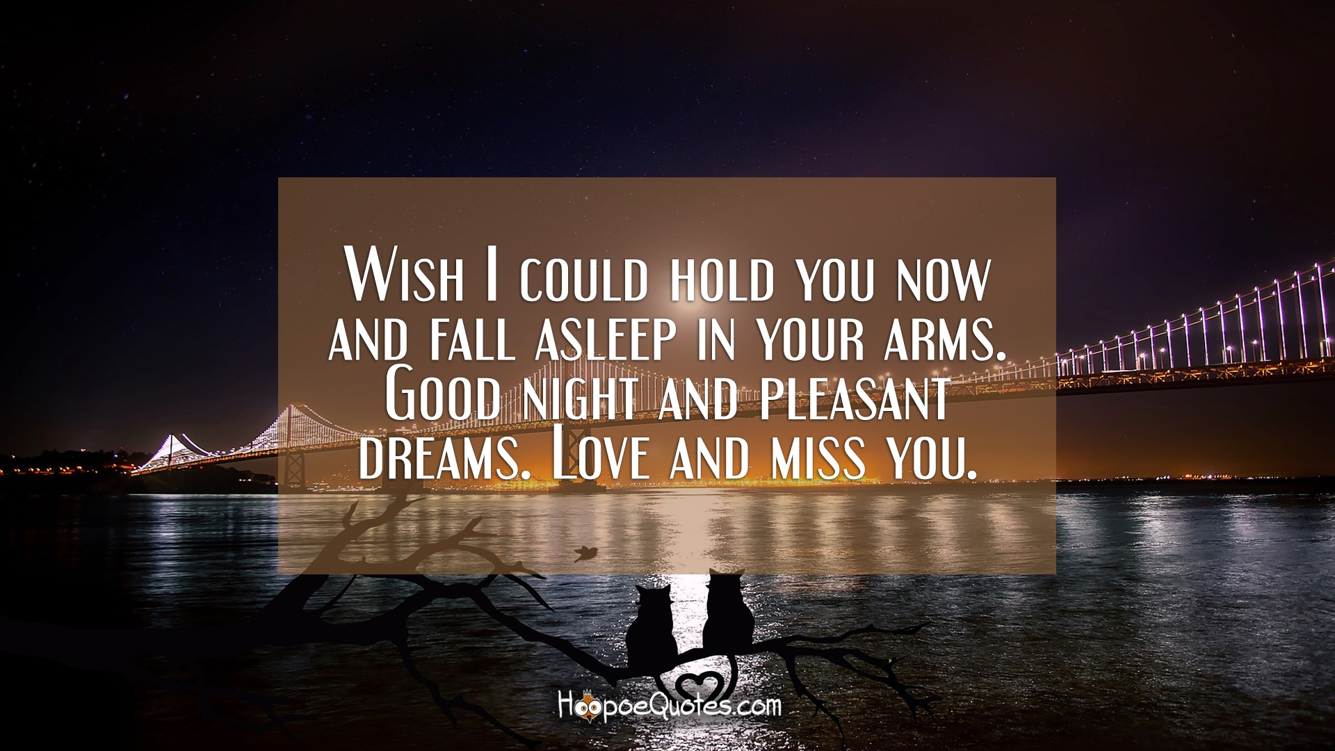 Wish I could hold you now and fall asleep in your arms. Good ...